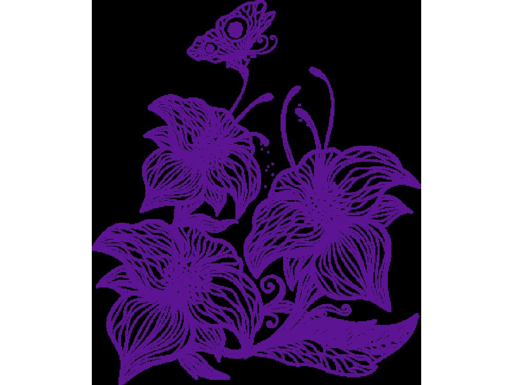 """""""Цветы"""" Изображение для нанесения на одежду № 0276"""