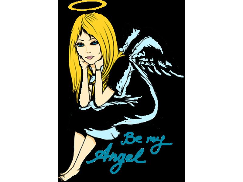 """""""Be my Angel"""" Изображение для нанесения на одежду № 0277"""