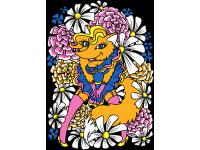 """""""Лиса в цветах"""" Изображение для нанесения на одежду № 0304"""