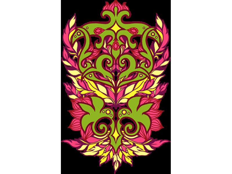 """""""Цветочная корона"""" Изображение для нанесения на одежду № 0359"""