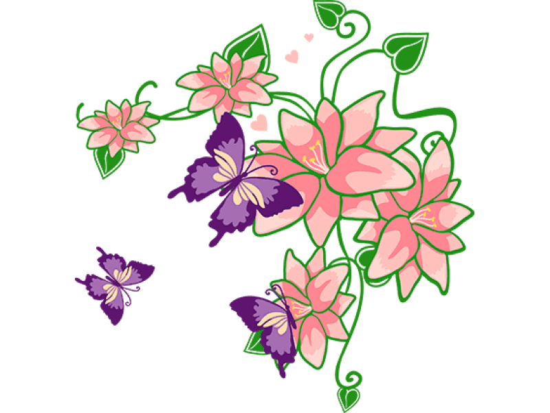 """""""Бабочки на цветах"""" Изображение для нанесения на одежду № 0397"""