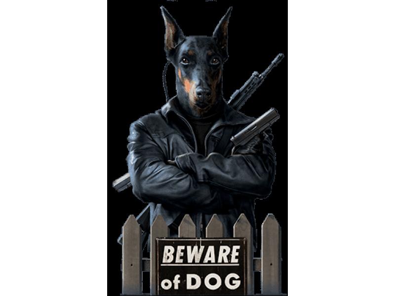 """""""Beware of DOG"""" Изображение для нанесения на одежду № 1961"""