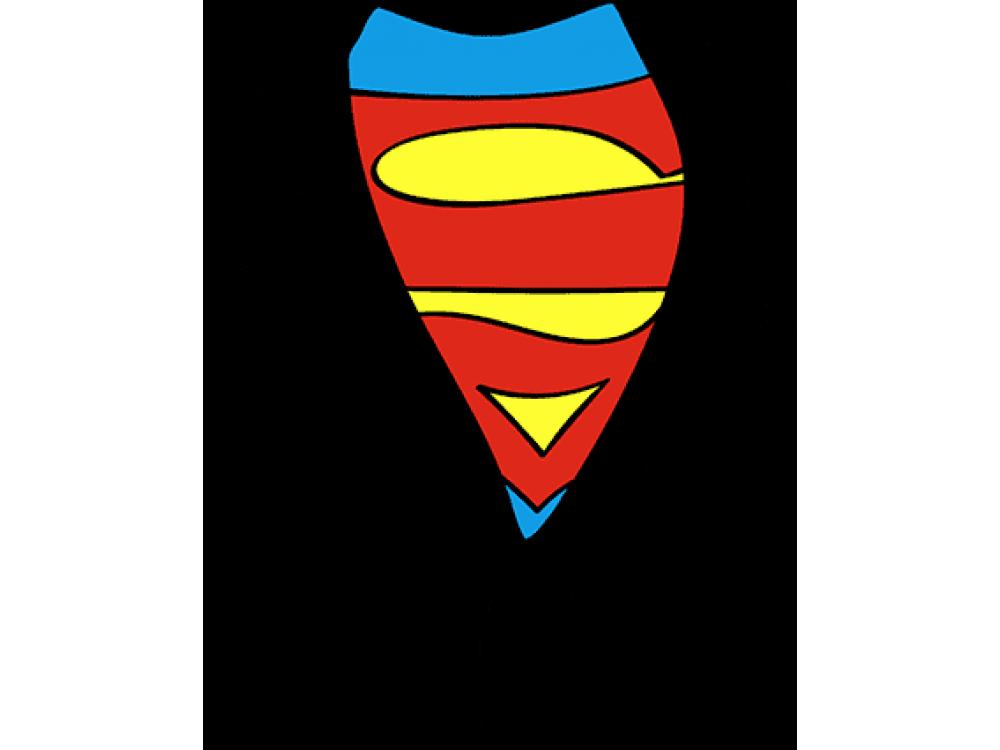 """""""Супермен"""" Изображение для нанесения на одежду № 0506"""