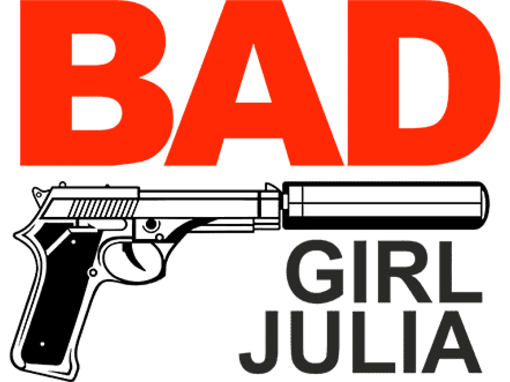 """BAD GIRL JULIA"" Изображение для нанесения на одежду № 1288"