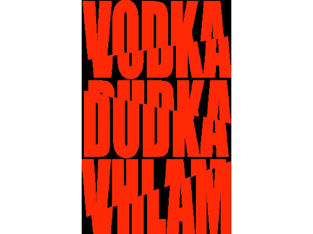 """""""VODKA DUDKA"""" Изображение для нанесения на одежду № 1289"""