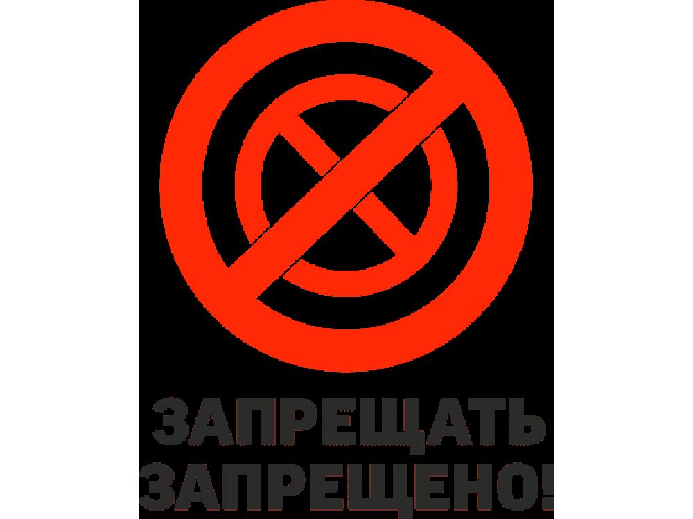 """""""Запрещать запрещено"""" Изображение для нанесения на одежду № 1291"""