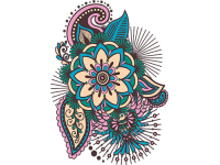 """""""Цветок"""" Изображение для нанесения на одежду № 0447"""