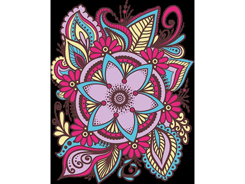 """""""Цветок"""" Изображение для нанесения на одежду № 0448"""