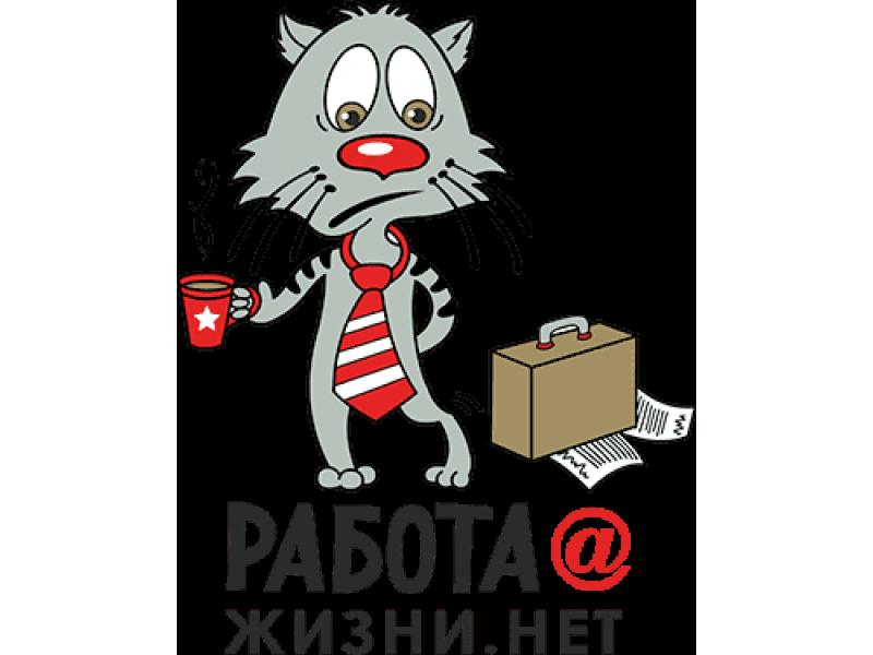 """""""Работа @ жизни.нет"""" Изображение для нанесения на одежду № 0631"""