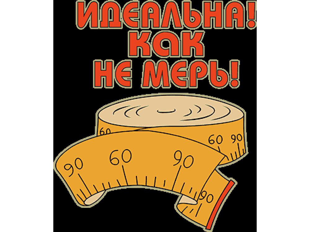 """""""Идеальна как не мерь"""" Изображение для нанесения на одежду № 0639"""