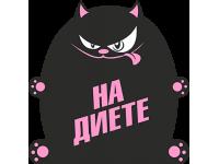 """На диете"" Изображение для нанесения на одежду № 0684"