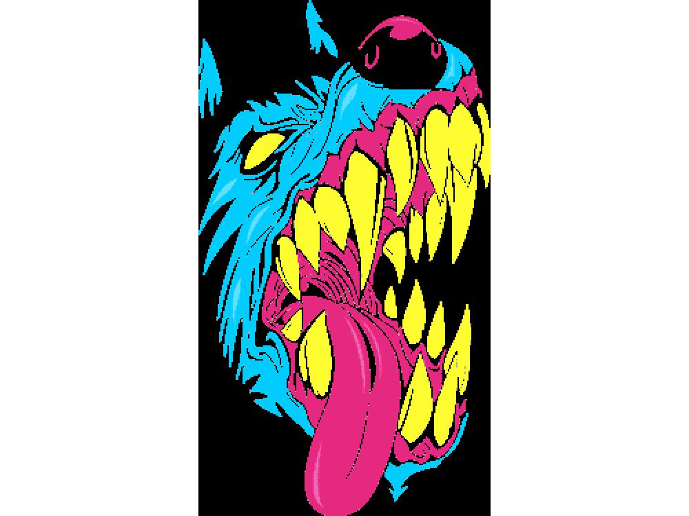 """""""Зубастая собака"""" Изображение для нанесения на одежду № 0770"""