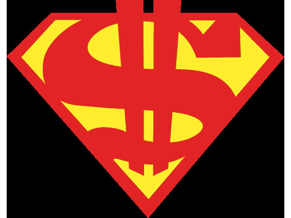 """""""Супер доллар"""" Изображение для нанесения на одежду № 0778"""