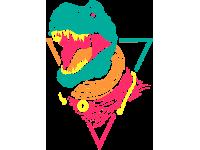 """""""Динозавр"""" Изображение для нанесения на одежду № 0805"""
