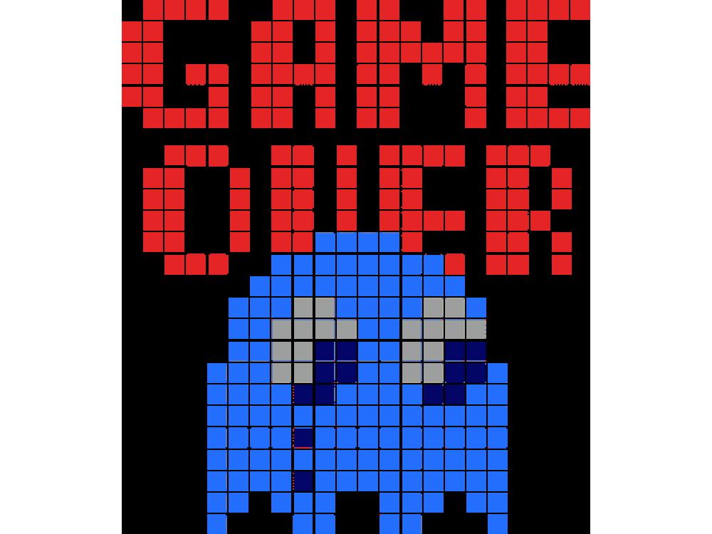"""""""GAME OVER"""" Изображение для нанесения на одежду № 0822"""