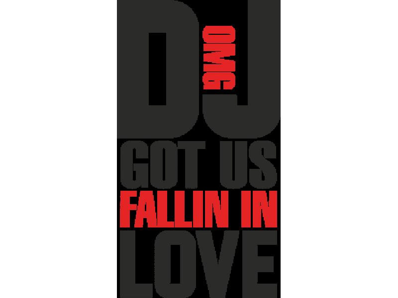 """""""DJ LOVE"""" Изображение для нанесения на одежду № 0840"""