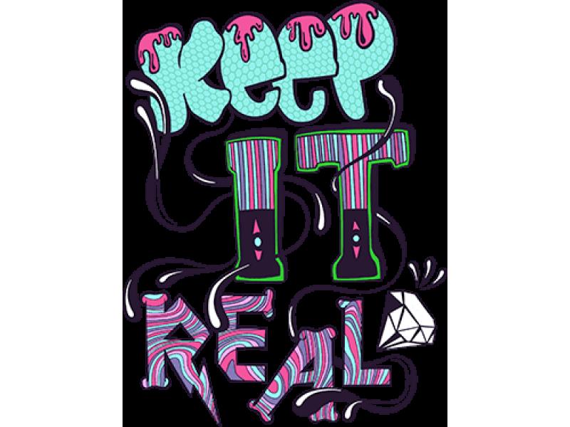 """""""KEEP IT REAL"""" Изображение для нанесения на одежду № 0845"""