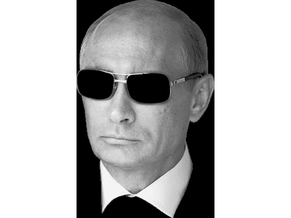 """Изображение для нанесения на одежду № 0015 """"Путин в черных очках"""""""