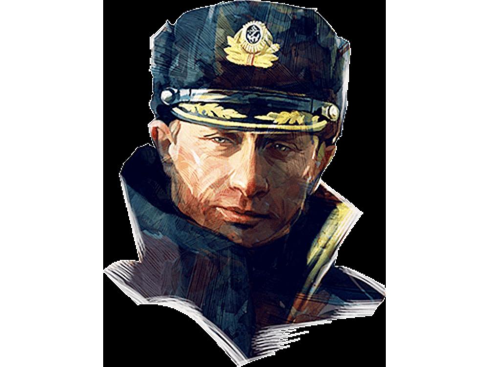 """Изображение для нанесения на одежду № 0013 """"Портрет Путина в военной форме"""""""