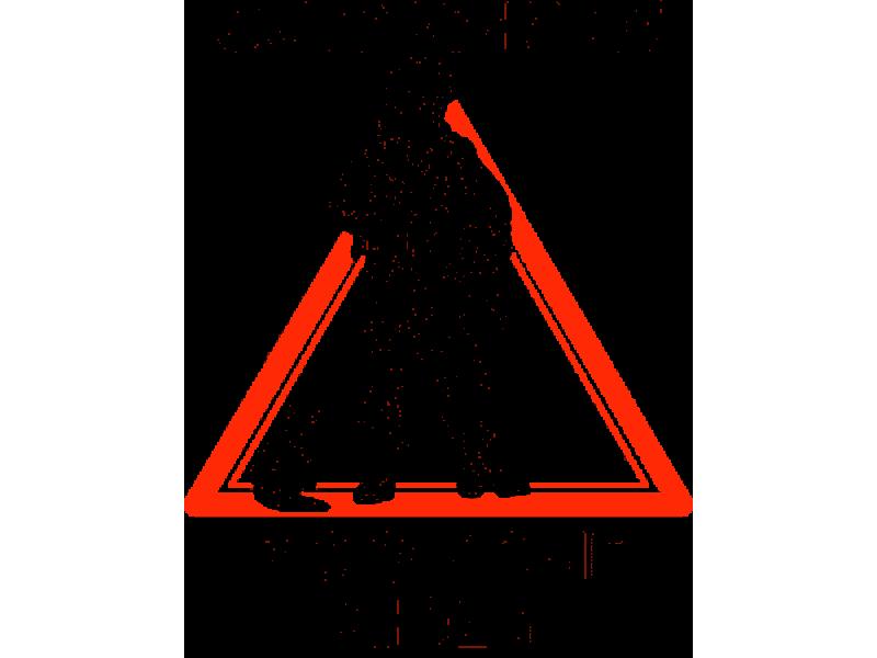 """"""" Осторожно Вежливые люди """" Изображение для нанесения на одежду № 1701"""