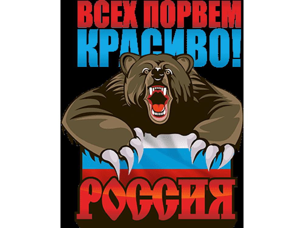"""""""Всех порем красиво Россия"""" Изображение для нанесения на одежду № 1706"""