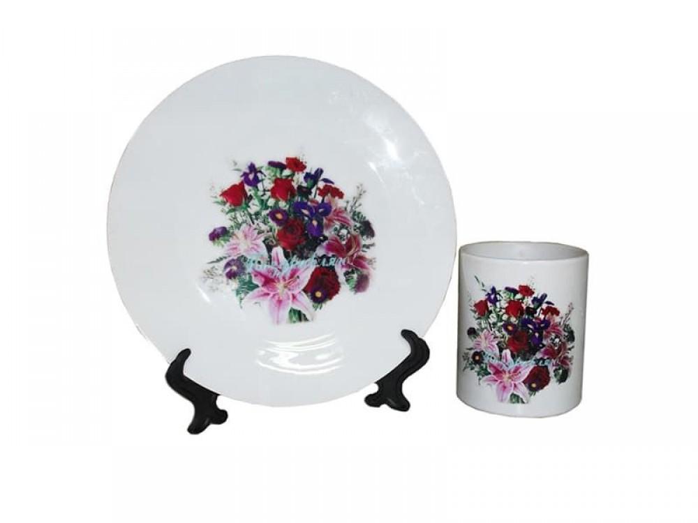 Тарелка белая керамическая, 15 см (в инд. упаковке)