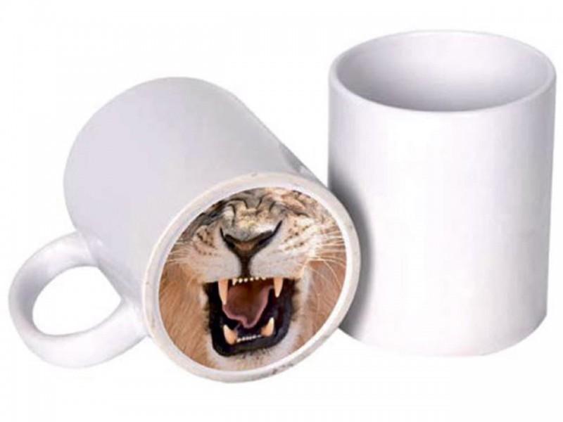 Кружка белая (Веселый нос) Лев