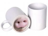 Кружка белая (Веселый нос) Свинка