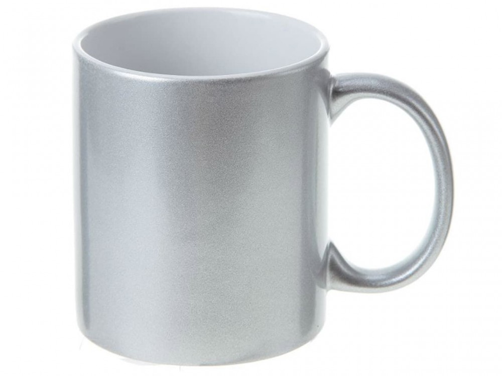 Кружка под цвет металлик серебро