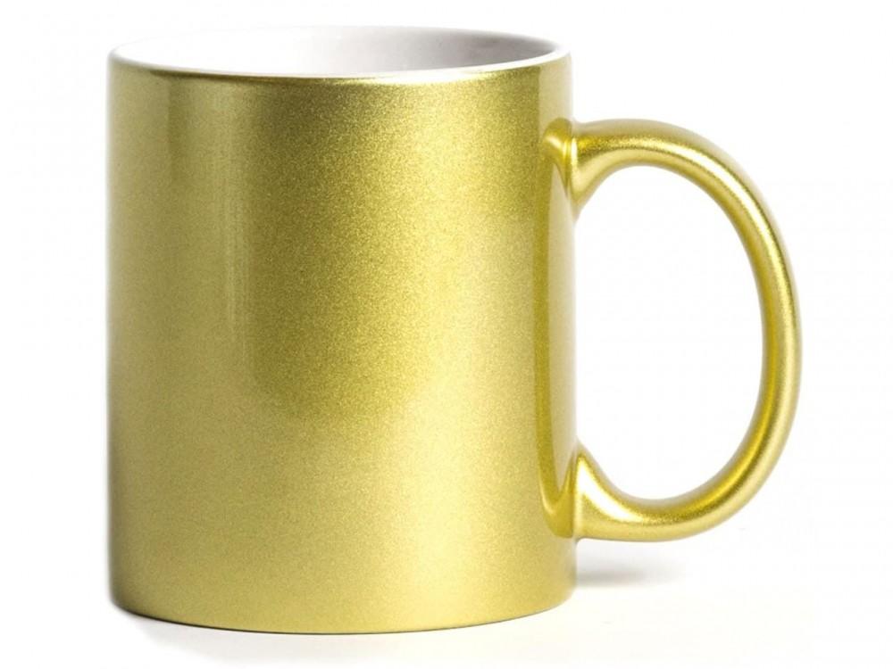Кружка под цвет металлик золото