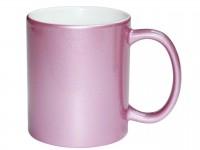 Кружка под цвет металлик розовая