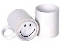 """Кружка белая с принтом на дне """"Smile"""""""
