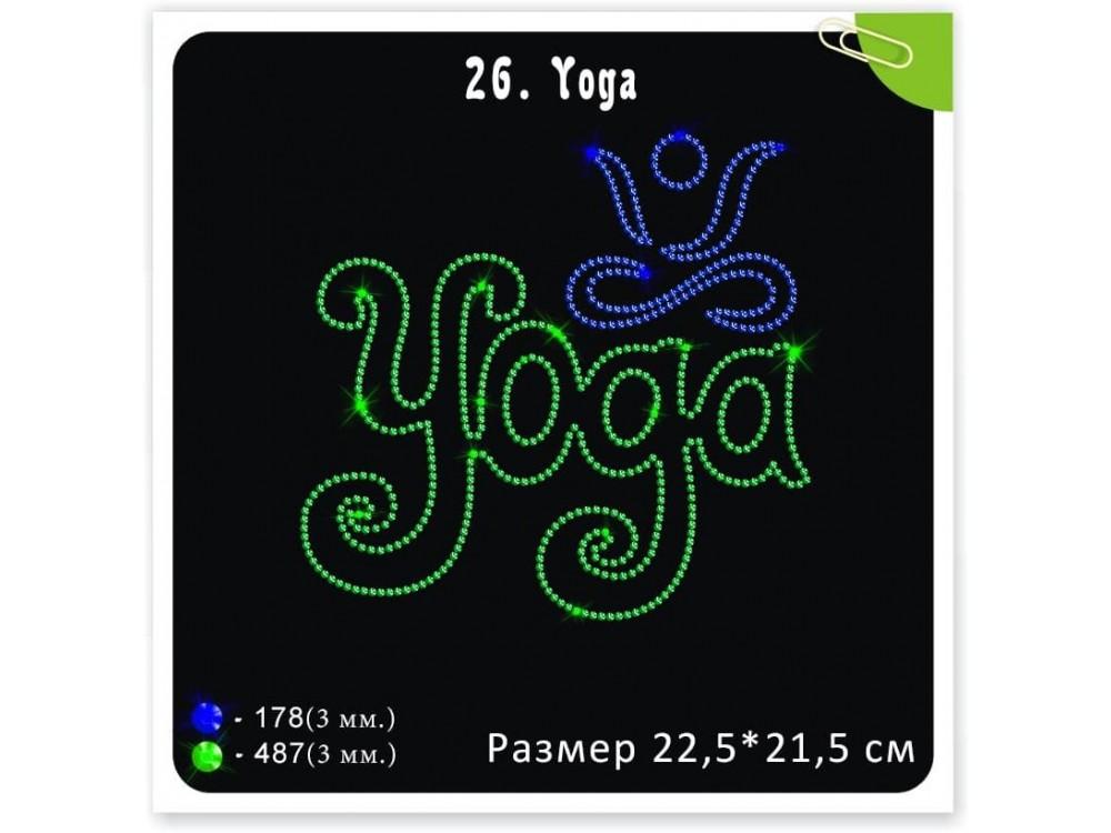 "Мотив из термостраз ""Yoga"""