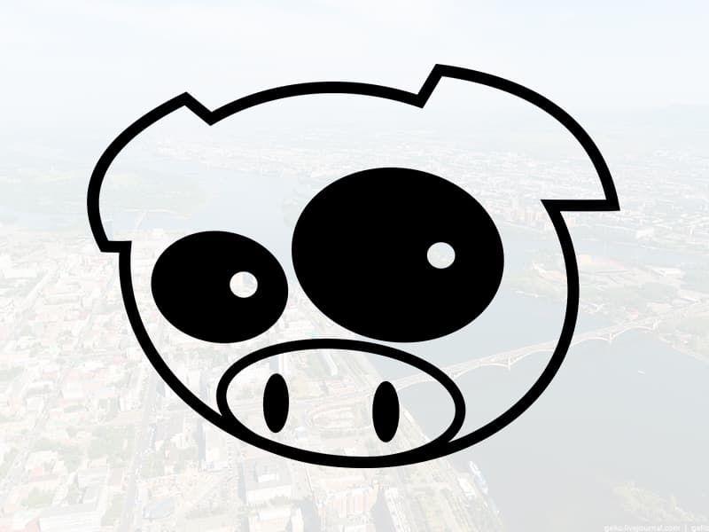 """Наклейка """"Свинья"""""""