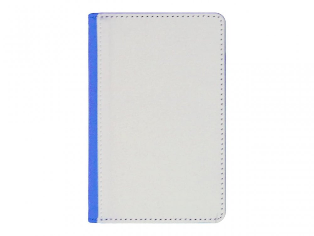 Обложка для паспорта (иск.кожа/ткань) синяя