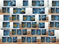 Коллекция шаблонов на кружку из 30 штук на 23 февраля