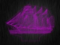 """Ночник """"3D Парусник"""" арт. 1437 на светодиодной подставке"""