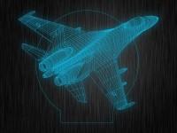 """Ночник """"3D истребитель"""" арт. 1411 на светодиодной подставке"""