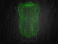 """Ночник """"3D зуб"""" арт. 0003 на светодиодной подставке"""