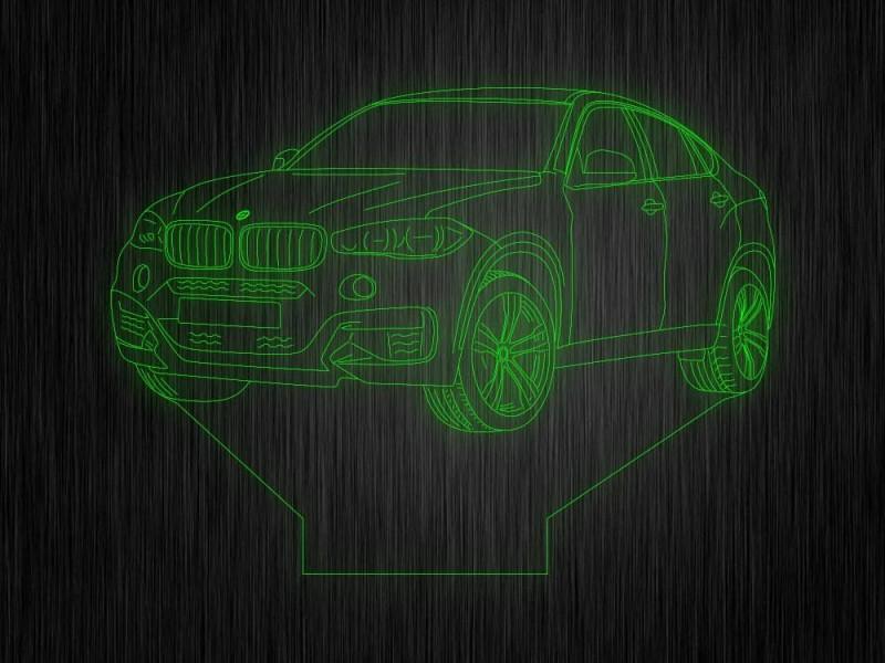 """Ночник """"BMW 6"""" арт. 0555 на светодиодной подставке"""