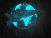 """Ночник """"Истребитель"""" арт. 1172 на светодиодной подставке"""