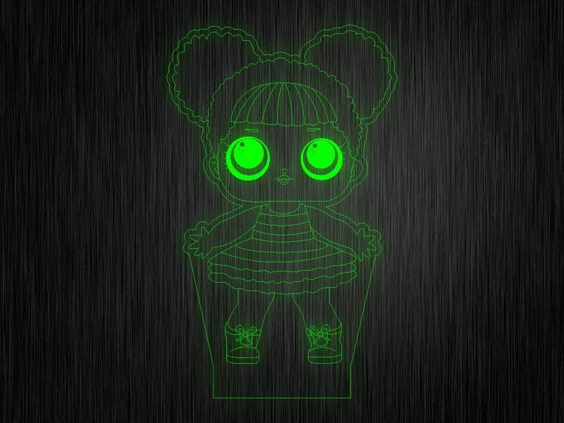 """Ночник """"Куколка №11"""" на светодиодной подставке"""