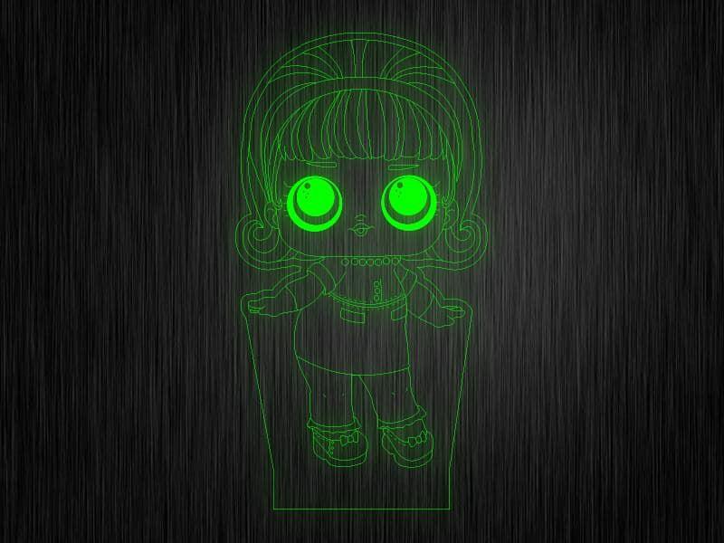 """Ночник """"Куколка №12"""" на светодиодной подставке"""