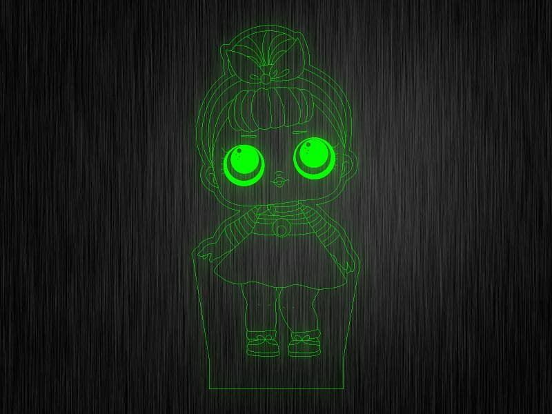 """Ночник """"Куколка №14"""" на светодиодной подставке"""