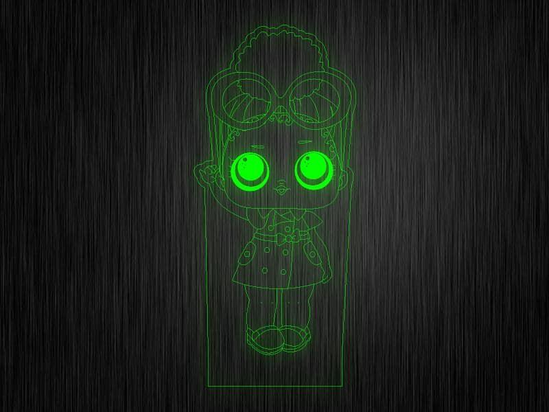 """Ночник """"Куколка №17"""" на светодиодной подставке"""
