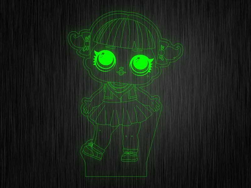 """Ночник """"Куколка №1"""" на светодиодной подставке"""