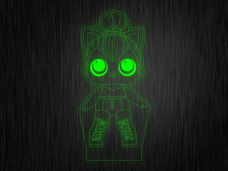 """Ночник """"Куколка №2"""" на светодиодной подставке"""