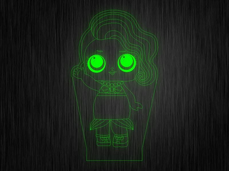 """Ночник """"Куколка №9"""" на светодиодной подставке"""