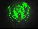 """Ночник """"Любовь сердце"""" №3 парень с девушкой на светодиодной подставке"""