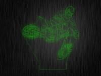 """Ночник """"Мотоциклист в полете"""" арт. 0897 на светодиодной подставке"""